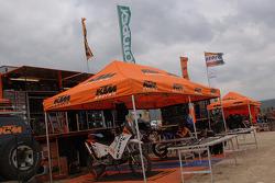 KTM Repsol Team bivouac