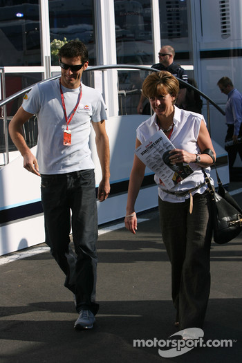 Mark Webber, Red Bull Racing and his manager Ann Neal