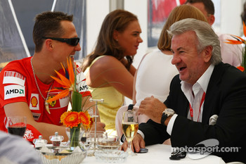 Michael Schumacher, Test Driver, Scuderia Ferrari and Willi Weber, Driver Manager