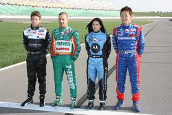 Marco Andretti, Tony Kanaan, Danica Patrick and Hideki Mutoh