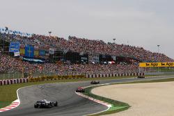 Robert Kubica, BMW Sauber F1 Team, Heikki Kovalainen, McLaren Mercedes, Fernando Alonso, Renault F1 Team