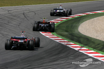 Nick Heidfeld, BMW Sauber F1 Team, David Coulthard, Red Bull Racing, Jarno Trulli, Toyota F1 Team