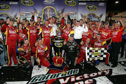 Victory lane: race winner Clint Bowyer celebrates with Richard Childress and RCR team members