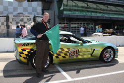 Honorary Starter Indianapolis Mayor Steve Ballard poses with the E85 Pace Car