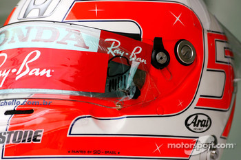 Helmet of Rubens Barrichello, Honda Racing F1 Team