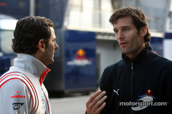 Pedro de la Rosa, Test Driver, McLaren Mercedes, David Coulthard, Red Bull Racing