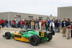 Crowds gather in Gasoline Alley