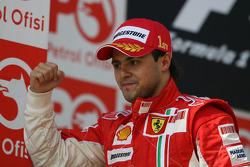 Podium: race winner Felipe Massa celebrates