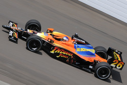 Marco Andretti on his third qualification lap