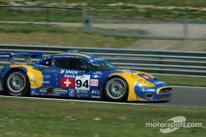 #94 Speedy Racing Team Spyker C8 Laviolette GT2R: Benjamin Leuenberger, Andrea Chiesa, Alexander Iradj between Pouhon and les Fagnes