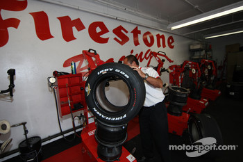 IndyCar Series officials make sure tire specifications are correct