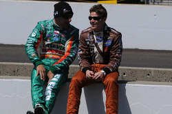 Tony Kanaan and Marco Andretti having chat