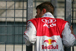 Martin Tomczyk, Audi Sport Team Abt Sportsline, at the pitwall
