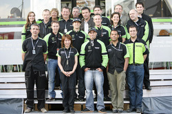 John Hopkins with Kawasaki France team members
