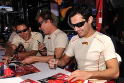 Patrick Friesacher, Mika Salo, and Jaime Melo