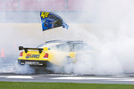 Burnout contest: Jimmie Johnson competes in the burnout contest