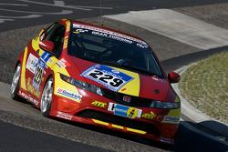 #229 Honda Civic Type R: Michael Ecker, Kim Berwanger, Uwe Unteroberdörster