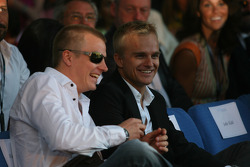 Kimi Raikkonen, Scuderia Ferrari and Heikki Kovalainen, McLaren Mercedes Amber Fashion which benefits the  Elton John Aids Foundation
