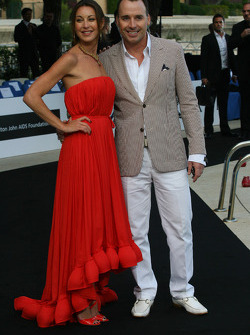 David Furnish  Husband of Elton John) Amber Fashion which benefits the  Elton John Aids Foundation