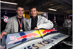 Michael Carrick Manchester United football player and Mark Webber, Red Bull Racing