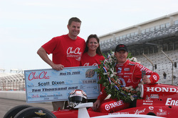 Cha Cha's check for $10,000 to Scott Dixon