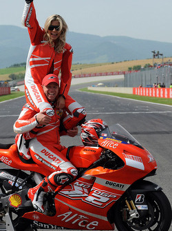 Maddalena Corvaglia and Randy Mamola