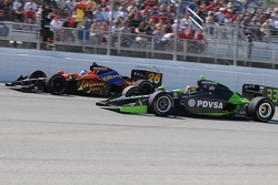 Ernesto VIso was moving up through the field and Marco Andretti was falling back