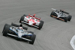Dan Wheldon, Helio Castroneves and Marty Roth