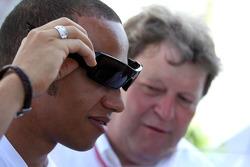 Lewis Hamilton, McLaren Mercedes and Norbert Haug, Mercedes, Motorsport chief