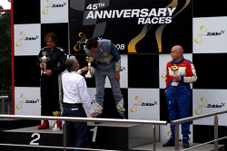 Podium: race winner Nigel Greensal, second place Ingo Gerstl, third place Karl-Hans Becker