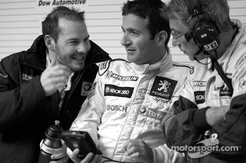 Jacques Villeneuve, Nicolas Minassian and Michel Barge