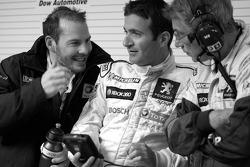 Jacques Villeneuve, Nicolas Minassian and Michel Barge