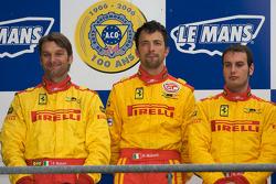 LM GT2 podium: second place Fabio Babini, Paolo Ruberti, Matteo Malucelli