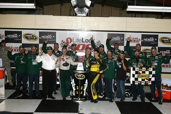 Victory lane: winner Dale Earnhardt Jr. celebrates
