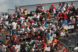 Fans in the granstand
