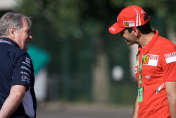 Patrick Head and Marc Gene, Test driver Ferrari