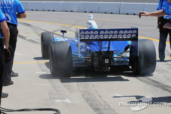 Scott Dixon leaving in a hurry