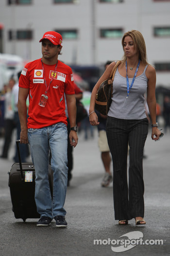 Felipe Massa, Scuderia Ferrari with Rafaela Bassi, Girl Friend, Wife of Felipe Massa