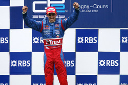 Podium: race winner Sebastien Buemi