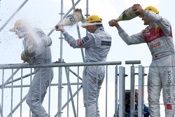Podium: champagne celebrations