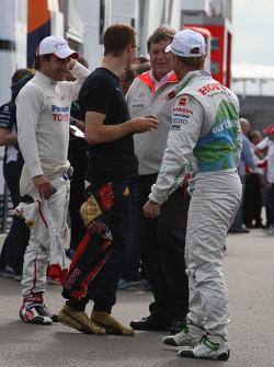 Rubens Barrichello, Honda Racing F1 Team, Sébastien Bourdais, Scuderia Toro Rosso, Timo Glock, Toyota F1 Team and Norbert Haug, Mercedes, Motorsport chief