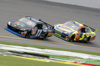 Denny Hamlin and Casey Mears