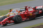 Nelson A. Piquet, Renault F1 Team, R28 and Kimi Raikkonen, Scuderia Ferrari, F2008
