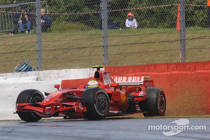 Felipe Massa, Scuderia Ferrari, F2008, spin