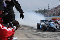 Danica Patrick loses control on pit road