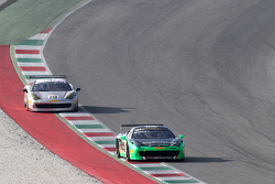 #183 Ineco MP - Racing Ferrai 458: Manuela Gostner and #218 Ferrari of San Francisco Ferrari 458: James Weiland