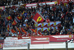 Tifosi in the grandstand