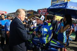 Former Spanish King Juan Carlos and Aleix Espargaro, Team Suzuki MotoGP