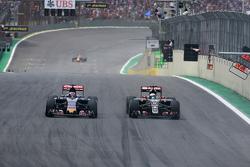 Romain Grosjean, Lotus F1 Team en Max Verstappen, Scuderia Toro Rosso
