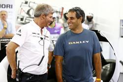 Fritz Enzinger, Porsche Team LMP1 director, with Juan Pablo Montoya